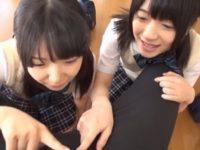 【愛須心亜 南梨央奈】ママに内緒で大好きなパパのオ〇ンチンにしゃぶりついて仲良く中出し近親相姦する2人の娘