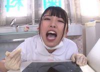 可愛い歯科衛生士が変態性癖患者と唾液塗れのディープキスして接吻しながら勃起オ●ンチンを手コキし射精した精液を一滴残らず精飲