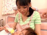 【吉永あかね】大人の爆乳保育園で大きな園児にお乳を飲ませる保母さんが授乳で勃起したオ●ンチンを爆乳で包み込んでパイズリ射精
