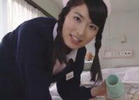 【由愛可奈】美人で可愛いナースがしびんにオシッコしたオ●ンチンを綺麗にしますねとしゃぶりつきお口で綺麗にしてフェラチオ射精